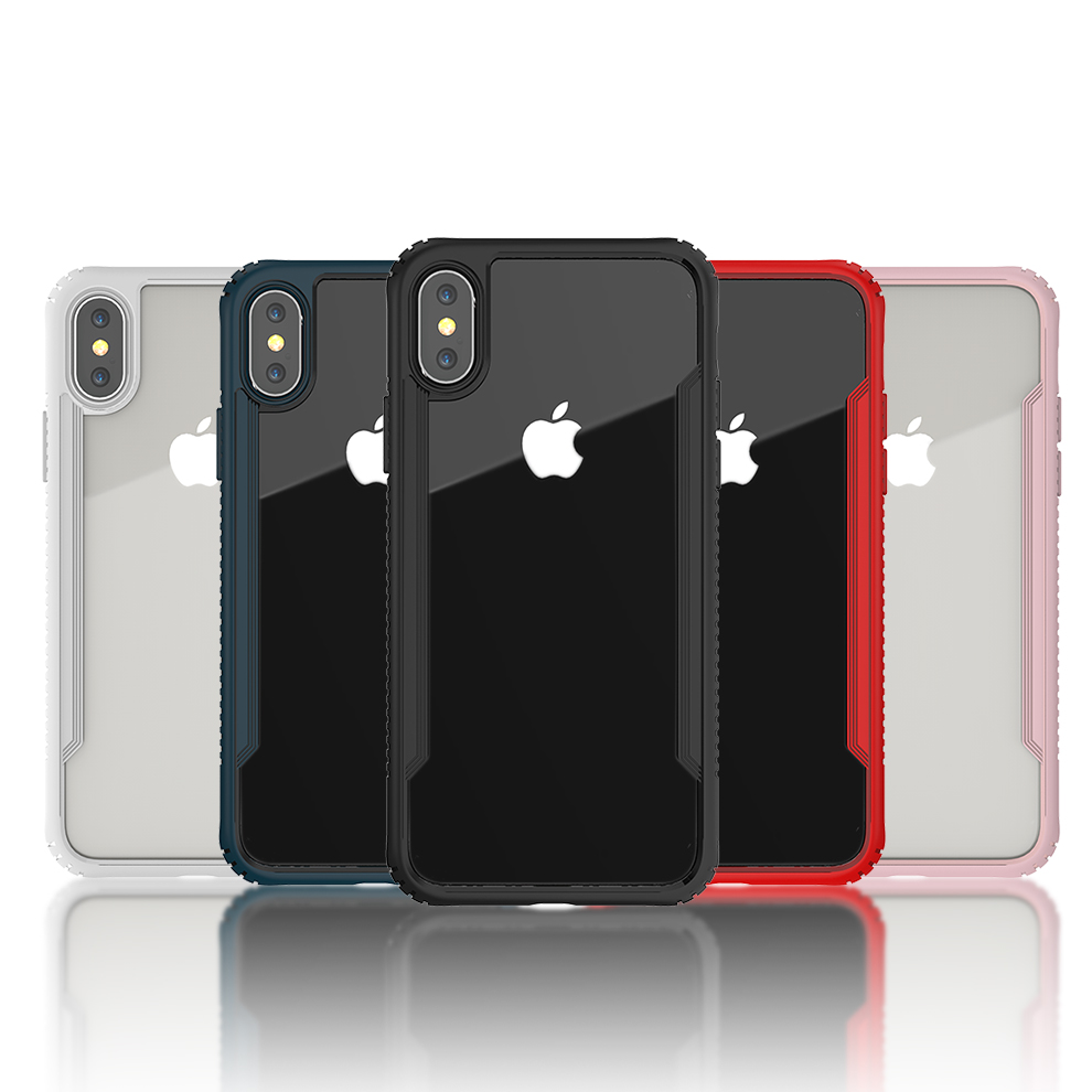 Shengo New Products 2018 <strong>Innovative</strong> Product Hybrid Anti Fingerprints Shockproof Tempered Glass Case for iPhone X