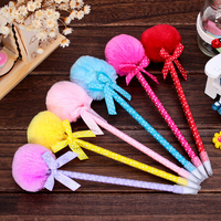 Creative style hair bulb ballpoint pen Lovely girl's pen The student class pen