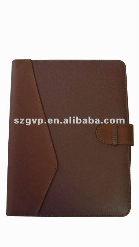delicate and hardcover leather notebook