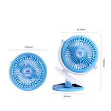 Mini Lithium Battery Powered USB Rechargeable Stand Clip Table Fan