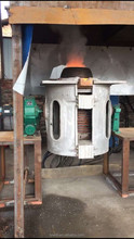 electric steel copper cast iron melting induction smelting furnace for sale