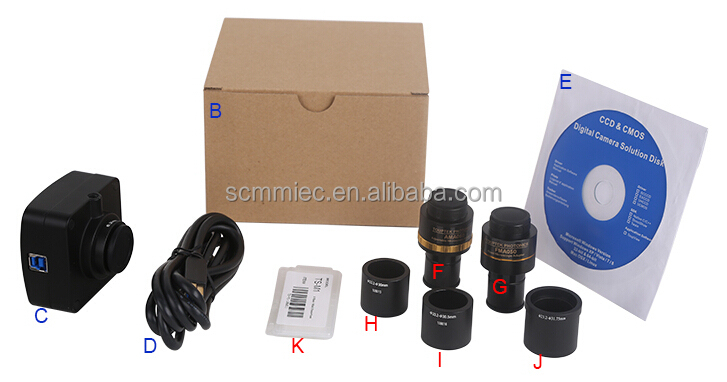 SC-E3 High speed USB3.0 SONY sensor fluorescence microscope camera