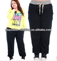 Professional Fat Women Loose Trousers Wholesale Plus Sizes Sport Pants For Fat Women