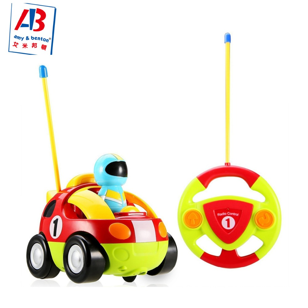 Hot Sale cartoon rc race car radio control toy for toddlers remote control car with Music and Lights