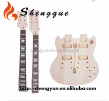 Shengque Unfinished Double SG Neck Electric Guitar Kit