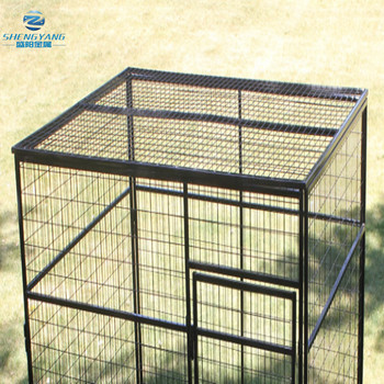 steel welded wire top yard pet enclosure kennel
