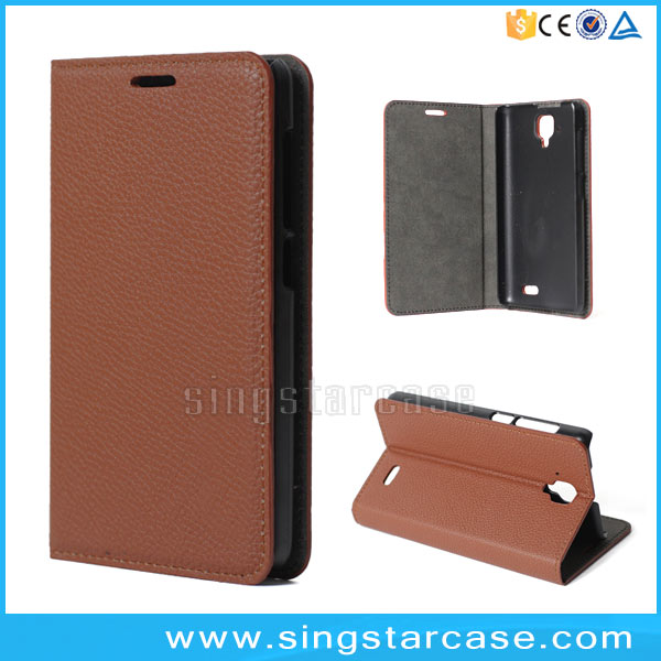 China alibaba classic litchi leather back cover for lenovo a536 flip case, for lenovo a536 phone case