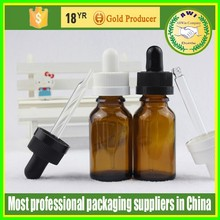 Manufacturer glass e liquid bottle with childproof cap/15ml amber childproof glass bottle FDA Approved