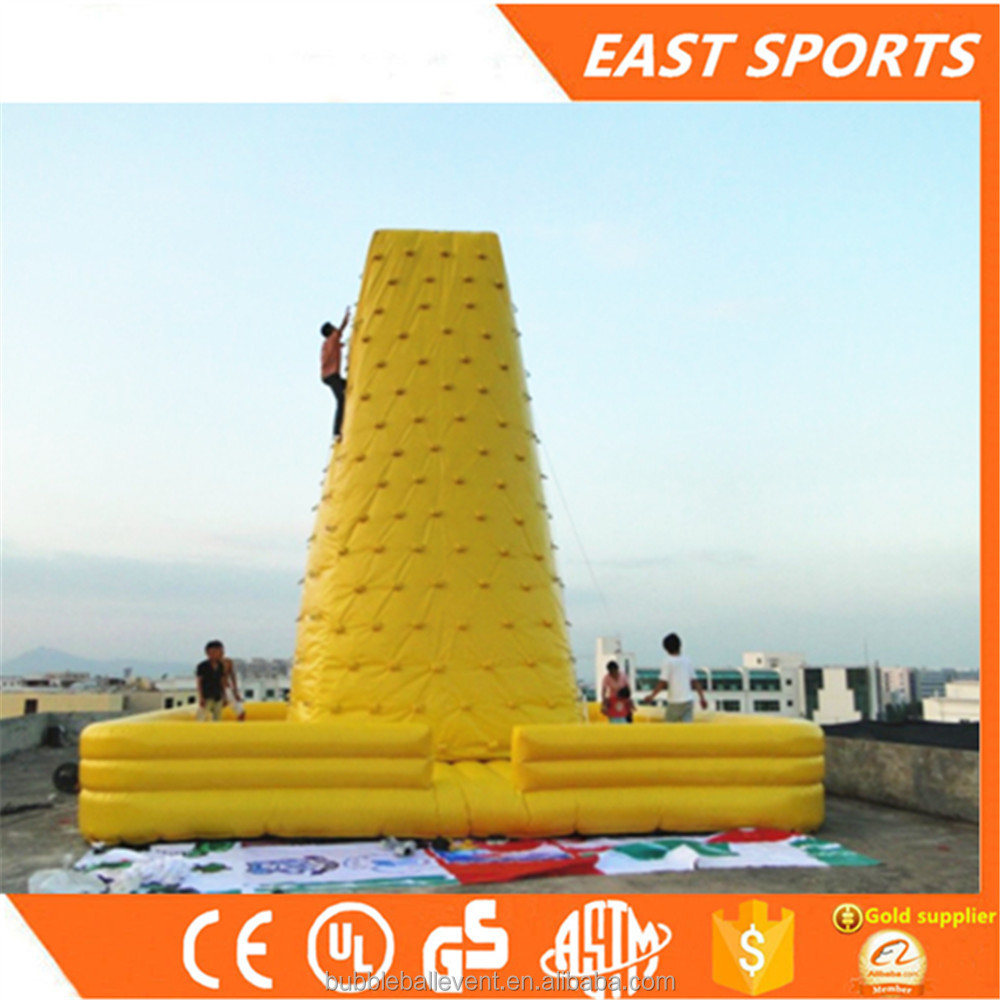 China outdoor inflatables toys inflatable water rock climbing wall for sale