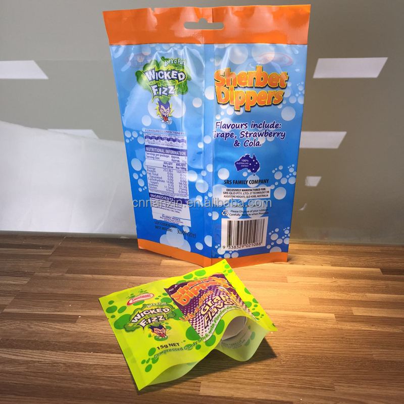 Kids design candy bag flexible packaging bag