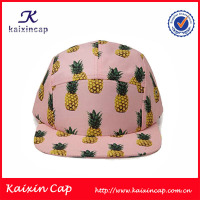 pineapple colorful 5 panel cap and hat wholesale