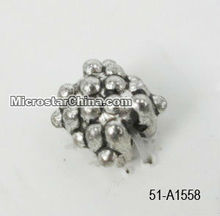 Zinc bead with hole