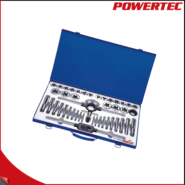 POWERTEC 45pcs Metric tap & die set with Steel box