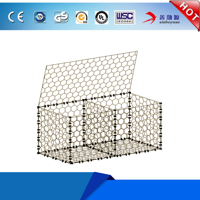 Direct factory heavy Galvanized Gabion Box / Hexagonal Wire Mesh Gabion With Competitive Price
