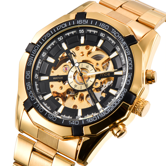 luxury stylish gold big dial relogio watches for wrist men wristwatch