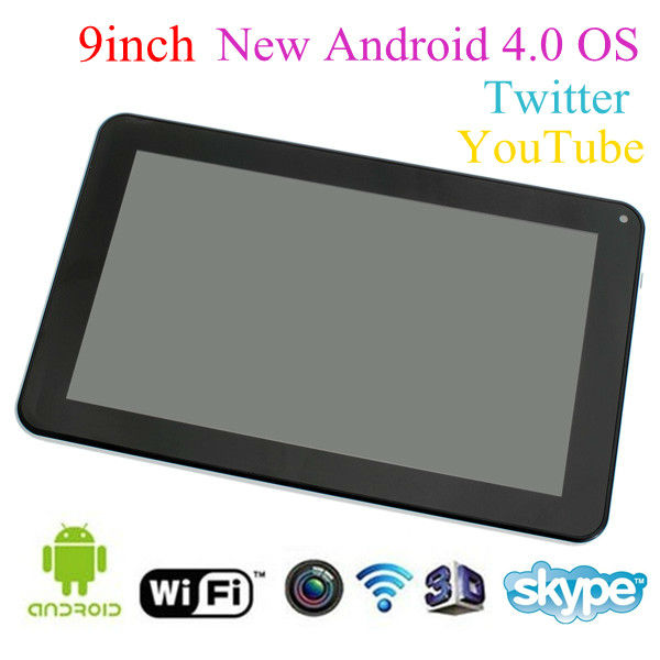 9 inch android 4.0 free 3d games tablet pc make in china