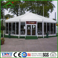 gazebo glass walling octagon event wind shelter tent marquees