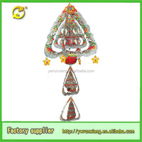 3D Paper Glitter Christmas tree Hanging angel Decoration Ornament