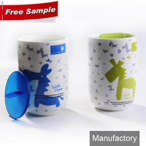handleless silicone custom promotional souvenir auto car ceramic camping travel coffee mug with lid