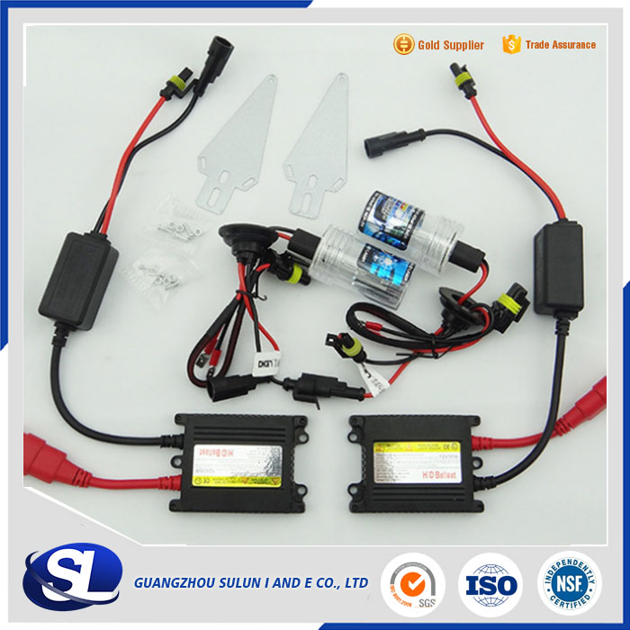 Slim Ballast 35W 12V H4 Bulb Xenon Headlight HID Xenon with Halogen Conversion Kit 6000K