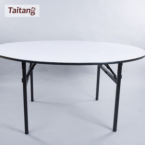 Whole white Round fold iron Table / Banquet Table / Folding table