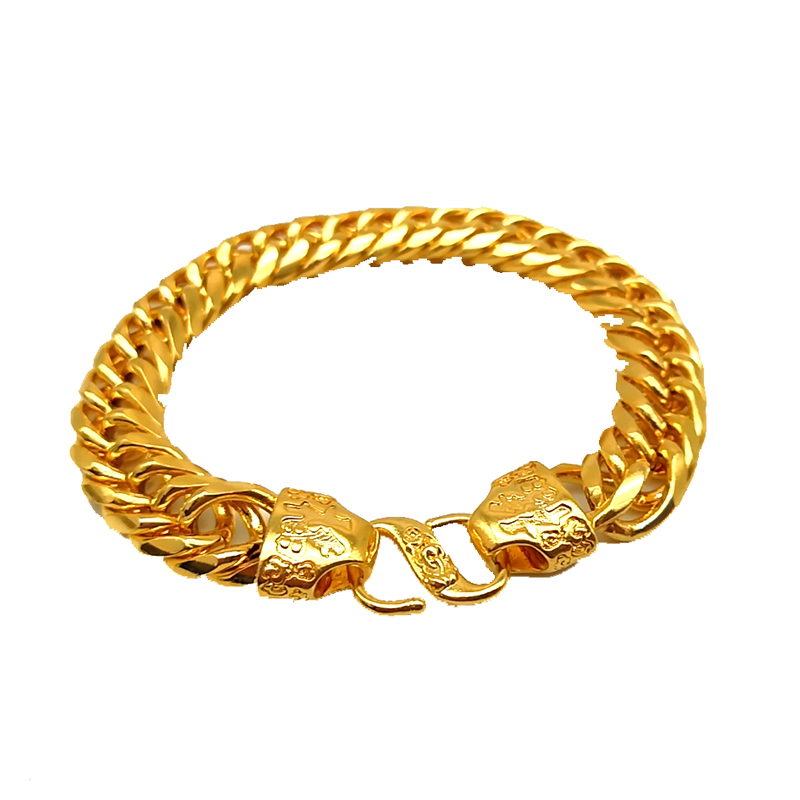 2019 Hot Style Latest Big Gold Chain Bracelets designs No Fade Vietnam Alluvial Gold Bracelets <strong>Jewelry</strong> for Mens