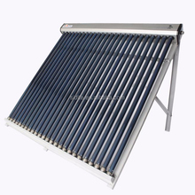 copper header Flat roof bracket vacuum tube solar tubes EN12975 CE SRCC Heat Pipe Solar Collector