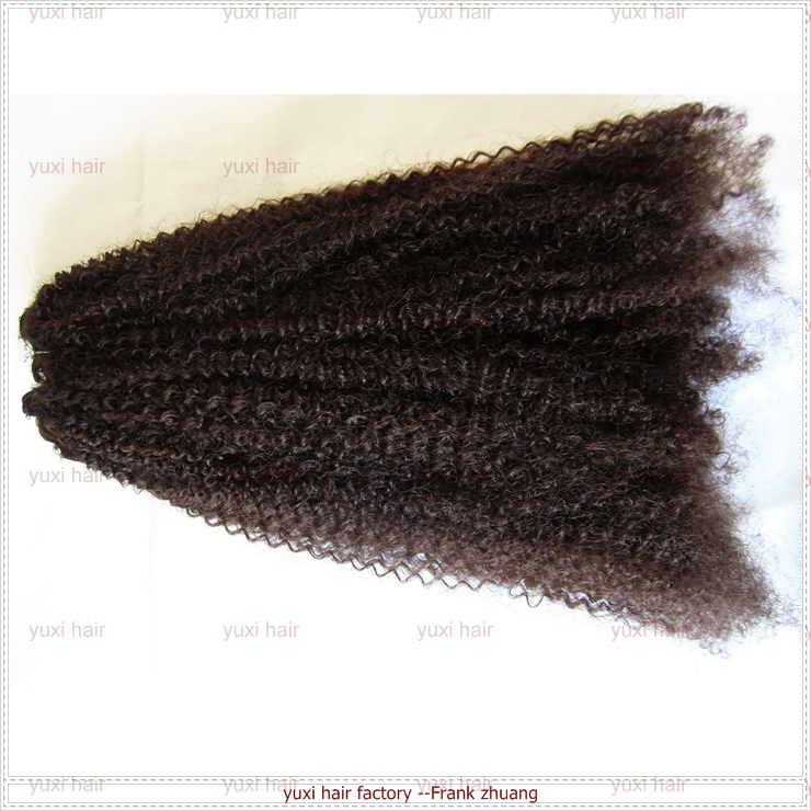 Raw Unprocessed Virgin Indian Hair , Virgin Indian Afro Kinky Curly Hair