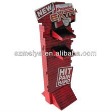 Custom corrugated cardboard advertising floor stand display for candy promotion