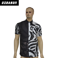 High quality sublimation mixed colors polo shirt with buttons from top to bottom