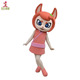 Super Soft Plush Customized Cartoon Mascot Fox