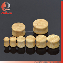 ZhiRen Organic Solid saddle bamboo body piercing, bamboo ear expander, bamboo ear stretcher