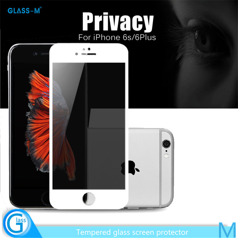 Smart Phone 2016 Wholesale!9H Anti-shocked Best Privacy Screen Protector for iPhone6s And 6sPlus