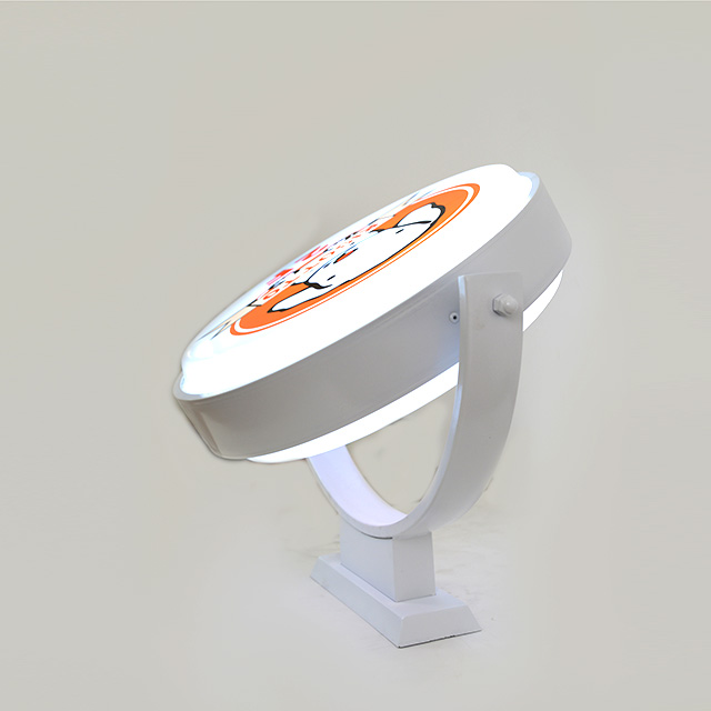 outdoor acrylic blister rotating round led light box for <strong>advertising</strong>