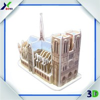 Customized world architecture 3D jigsaw puzzle /adult educational puzzle