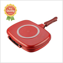 Pans Type and Aluminum Metal Type happy call double fry pan Die cast pan
