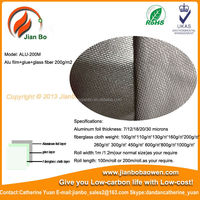 Fiber glass fabric with silver coated mesh fabric