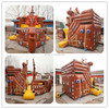 Black pearl pirate ship inflatable bouncer for kids playground