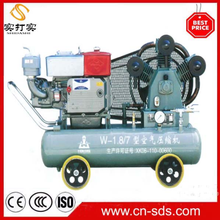 High Pressure w3.2-7 air diesel engine portable piston compressor Booster 350CFM 580PSI 40HP