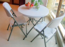 80cm wilson and fisher patio furniture cheap small plastic folding round bar cockteil table and chairs