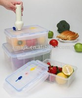 Vacuum food container with pump