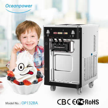 OP132BA Soft Ice Cream machine, ice cream freezer,ice cream making machine