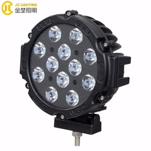High Quality 60w 7Inch Spot HID Fog Exterior Lights Led Driving Lights Black Offroad Round Spot Lamp Fit Jeep Truck