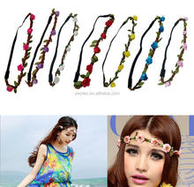Wholesale Artifical Flower Hair Band Hair <strong>Headband</strong>