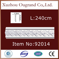 decorative pu polystyrene pillar moulding for hall decor