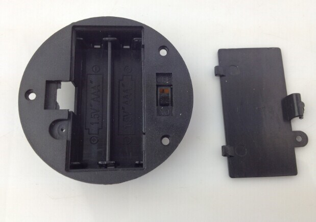 2AAA Round Battery Holder, 2AAA Battery Holder, 2AAA Black Battery Holder