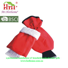 Hot selling Window wiper ice scraper with glove for promotion
