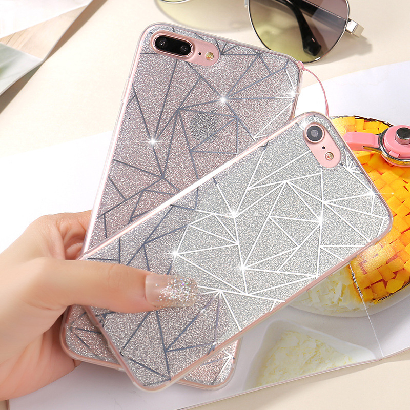 For iphone 6 or For iphone 7 Phone accessories, TPU Lozenge pattern case for iphone 7