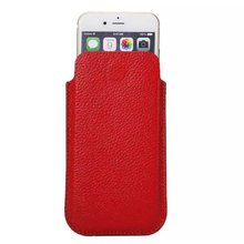 wp1033c Women Leather Cell Phone Case Red