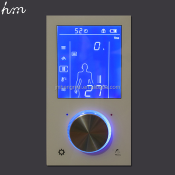 High Quality Thermostatic LCD Shower Valve Digital Display Shower Mixing  Control Valve Brass Electronic Shower Controller